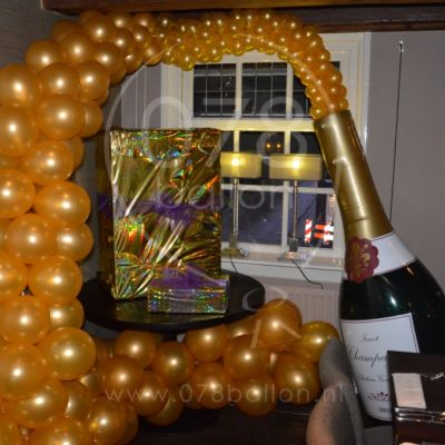 Champagne thema decoratie (jan. 2016)