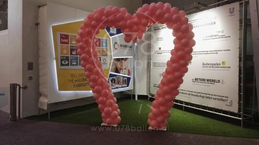 Harten ballonboog voor Unilever (feb. 2016)