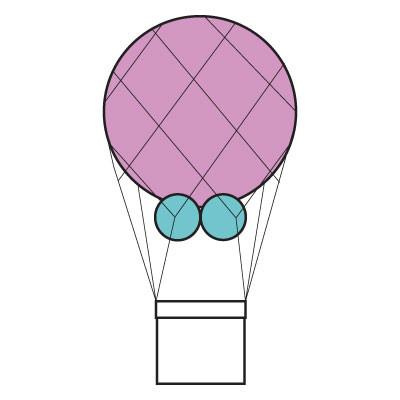 Luchtballon met mand