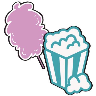 Suikerspinmachine of Popcornmachine huren